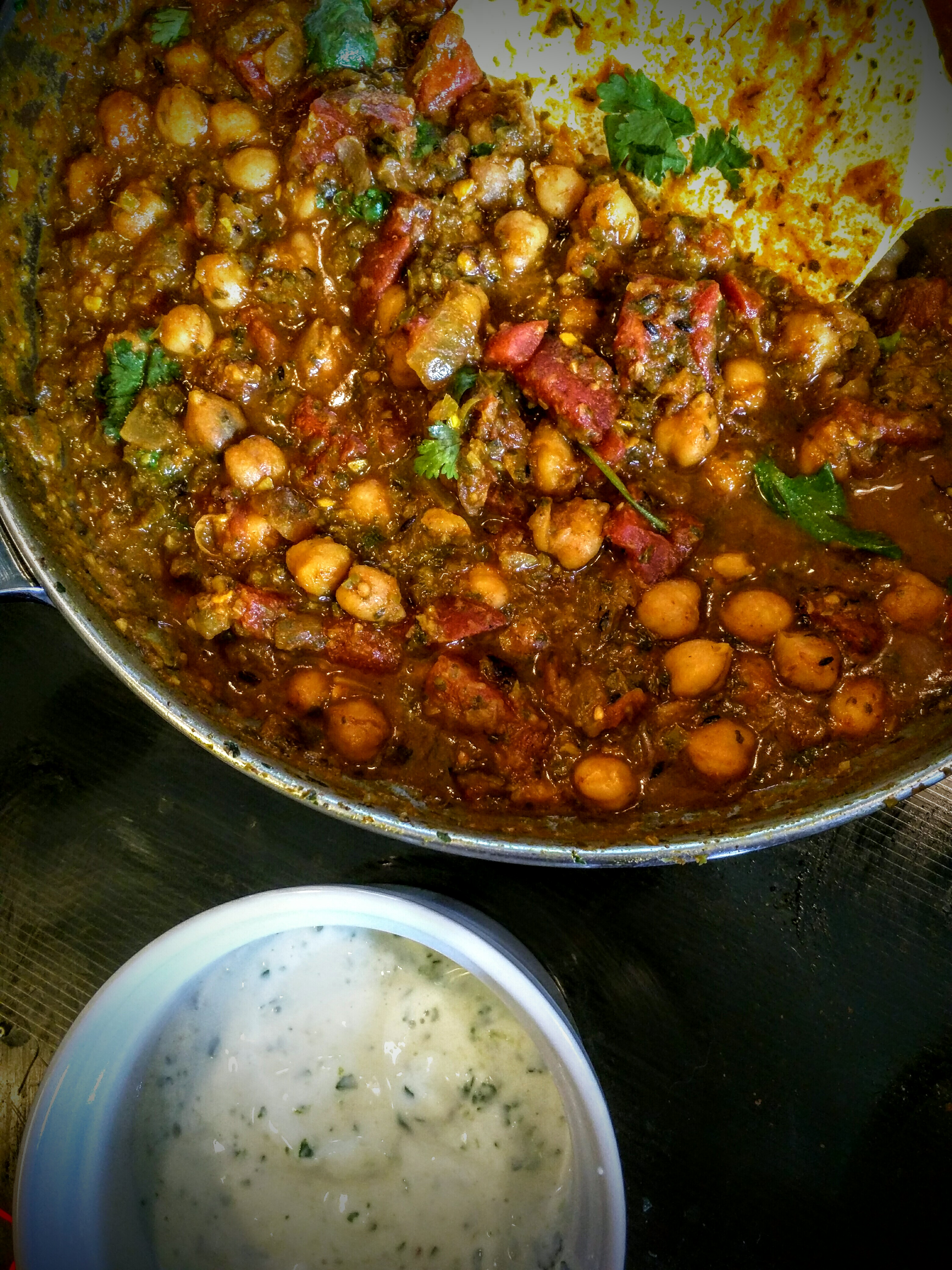 Chana Masala and raita