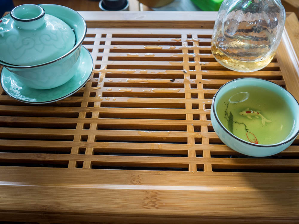 I like keeping the middle of the tea table open, don't really know why
