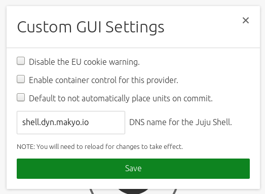 Setting up the shell address